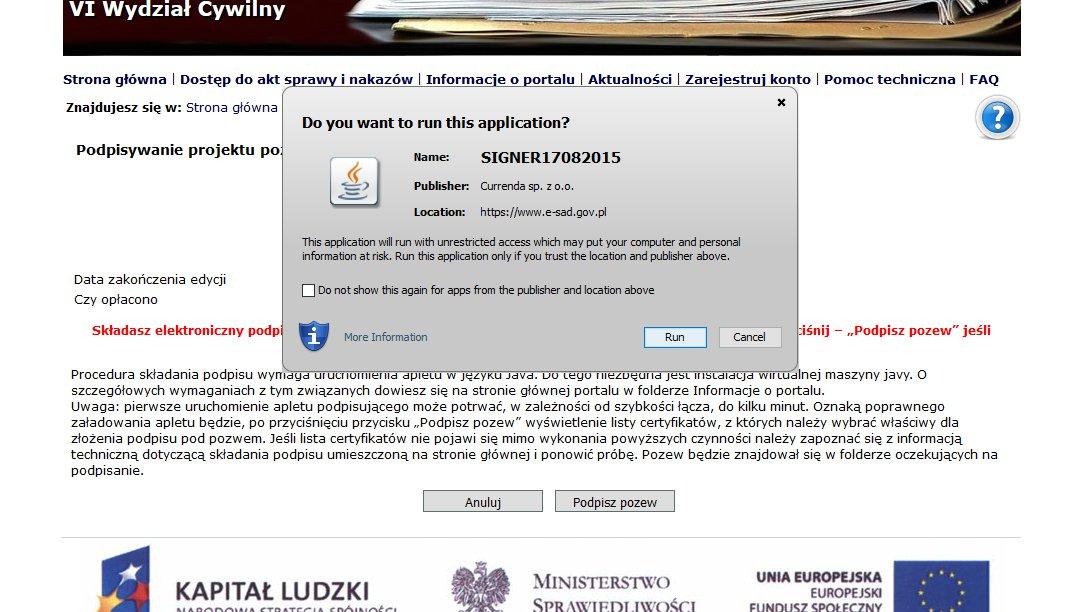 podpisanie pozwu w e-sądzie 3