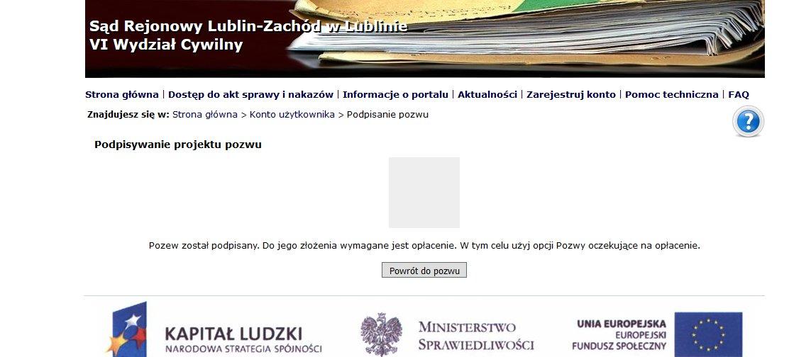 podpisanie pozwu w e-sądzie 5